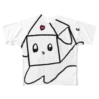 色を失ったわんちゃんドリーム Full graphic T-shirts