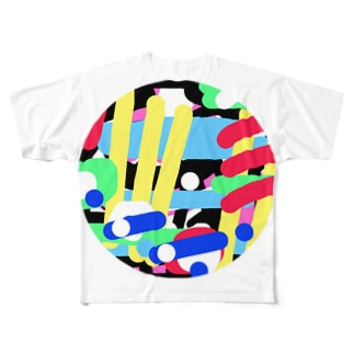ひよこ豆を5粒 Full graphic T-shirts