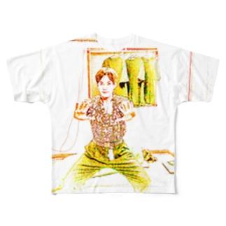 ネオン天悠 Full graphic T-shirts