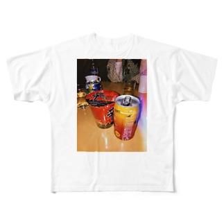 宅飲み Full graphic T-shirts