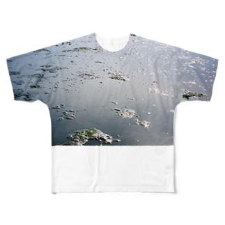 地球では潮干狩り Full graphic T-shirts