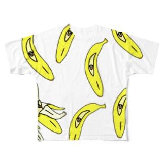 モアバナナ Full graphic T-shirts