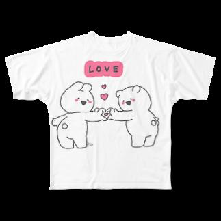 Sakuranboのうさぎちゃん Full graphic T-shirts