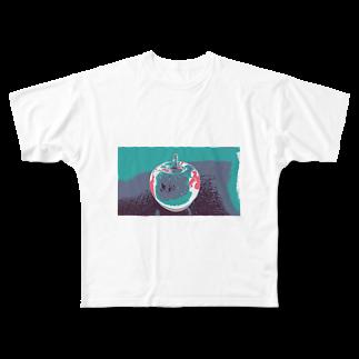 rinne_yuyuのリンゴ Full graphic T-shirts