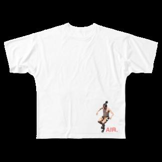 usatf9のAIR.hi-ちゃん Full graphic T-shirts