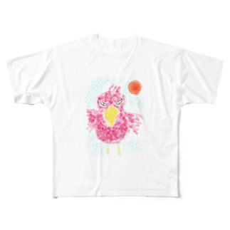 manamanawaruのアカびろこう Full graphic T-shirts