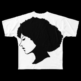 zukkyzukkyのGIRL Full graphic T-shirts