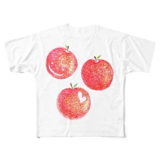 赤いりんご Full graphic T-shirts