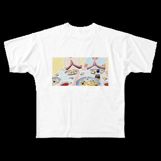 kokeshioのいただきます Full graphic T-shirts