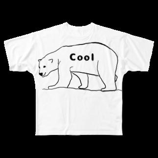 Eatn-kkのCool bear Full graphic T-shirts