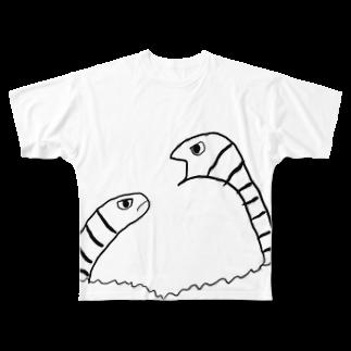 Eatn-kkのけんか Full graphic T-shirts