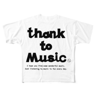 THANK TO MUSIC Full graphic T-shirts