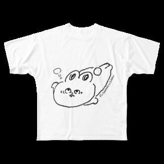 srisriyuriのフサアンコウの真似をするうさこちゃん Full graphic T-shirts