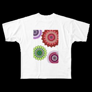 AliceeeeeeedのFlower Full graphic T-shirts