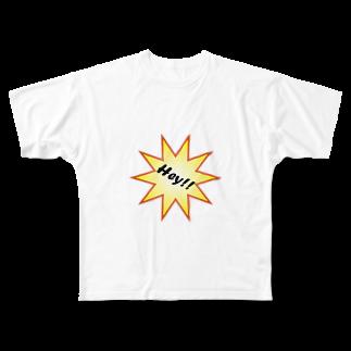 hato1217のHey!! Full graphic T-shirts