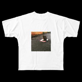 hari1111の道端の猫 Full graphic T-shirts