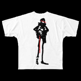 SHIDEN for SUZURIのクロアカ Full graphic T-shirts