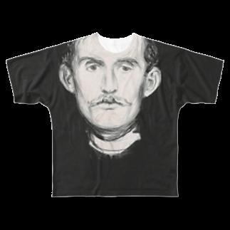 Art Baseのムンク / 1896 / Self-Portrait I / Edvard Munch Full graphic T-shirts