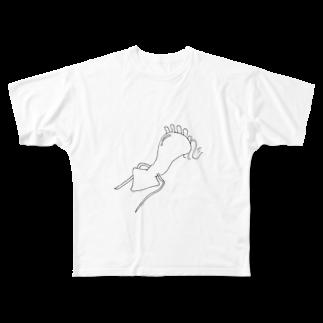うまみのねこイカ Full graphic T-shirts