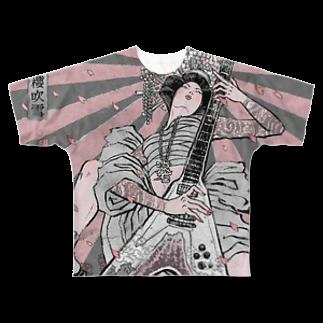 Uenosuke0802の浮世絵 Full graphic T-shirts
