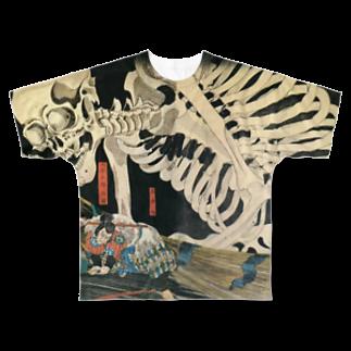 Uenosuke0802のがしゃどくろ Full graphic T-shirts