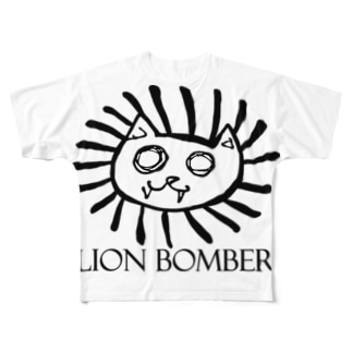 LION BOMBER Full graphic T-shirts