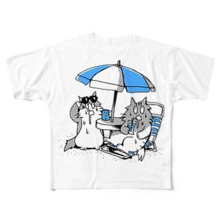 よだれねこの夏2019 Full graphic T-shirts