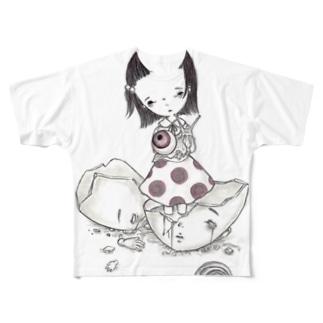 抜け殻 Full graphic T-shirts