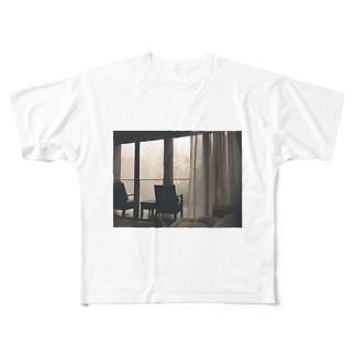 朝靄のなかのまどろみ Full graphic T-shirts