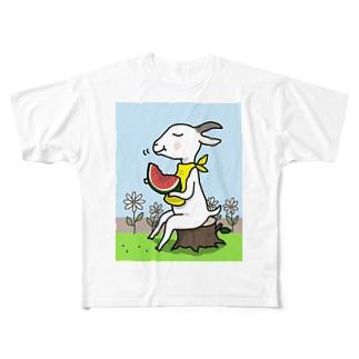山羊さんの夏休み Full graphic T-shirts