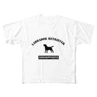 onehappinessのラブラドールレトリバー Full graphic T-shirts