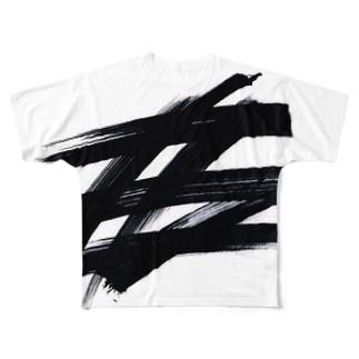 極太マーカー Full graphic T-shirts