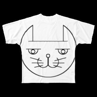 ヒロさんのグッズのネコだお Full graphic T-shirts