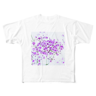 ayakaのhappiness Full graphic T-shirts