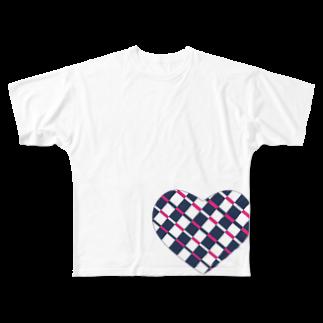 mow。のハート3 Full graphic T-shirts