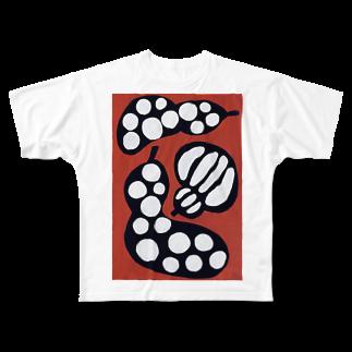 miyukinoeのひょうたん三姉妹 Full graphic T-shirts