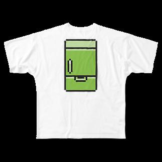 カットボスの冷蔵庫 Full graphic T-shirts