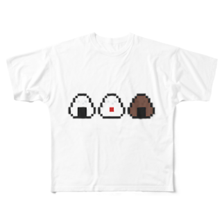 カットボスのおむすび Full graphic T-shirts