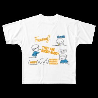 egu shopのfriend Full graphic T-shirts