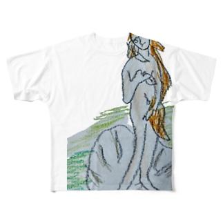 ビーナス誕生? Full graphic T-shirts