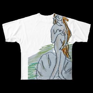 ✈オノウエ コウキのビーナス誕生? Full graphic T-shirts