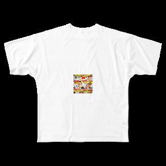 mn_yuskのまのてぃー Full graphic T-shirts