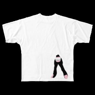 みあしろ。のくろ。 Full graphic T-shirts