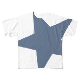 ブルースター Full graphic T-shirts