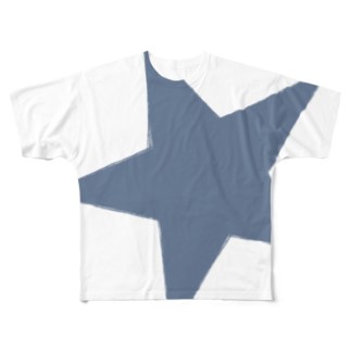 chicodeza by suzuriのブルースター Full graphic T-shirts