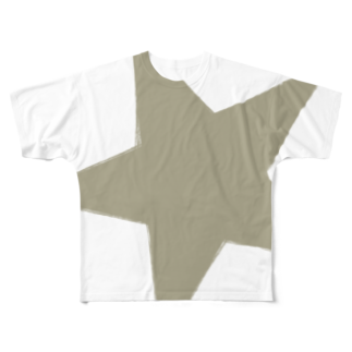 chicodeza by suzuriのゴールドスター Full graphic T-shirts