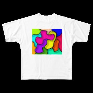 marippaの色いろいろ Full graphic T-shirts