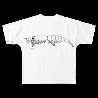 R_kogoのオキアミ Full graphic T-shirts