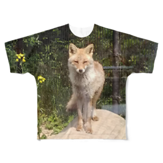 LRqWAQu9fOhj7WZのきつね Full graphic T-shirts
