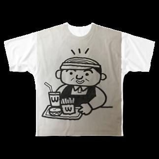 nico502のバーコード店長   ファーストフード編 Full graphic T-shirts